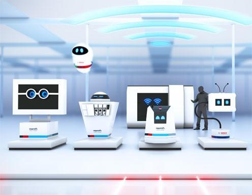 Nhà Máy T??ng Lai, ActiveCockpit, ActiveShuttle, IoTGateway, Bosch, Rexroth, APAS Assistant